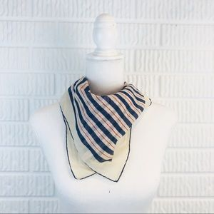 Vintage cotton red, white and blue square scarf